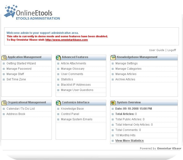 Omnistar Knowledge Management Software is a dynamic knowledge base software.